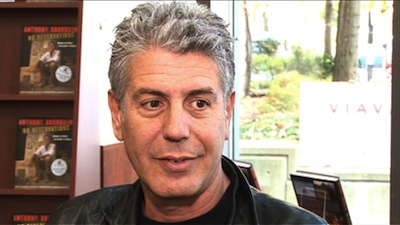 Anthony Bourdain by Watchmojo via Flickr