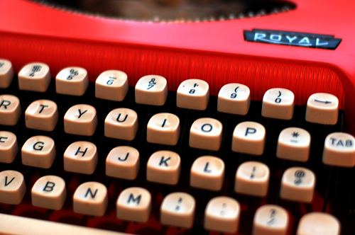 typewriter by beta500 via Flickr