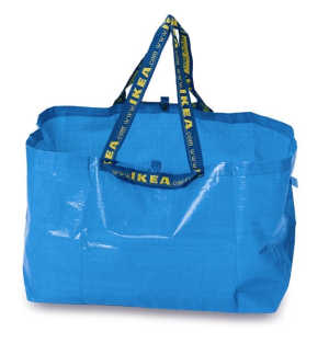 Blue Ikea Bag