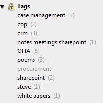 Evernote tag navigation