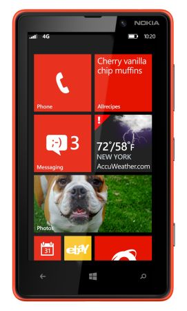 Windows Phone 8 Start Screen (courtesy Microsoft)