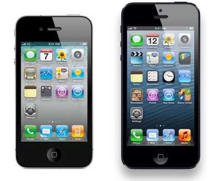iPhone 4 vs. iPhone 5 - can you spot the difference?