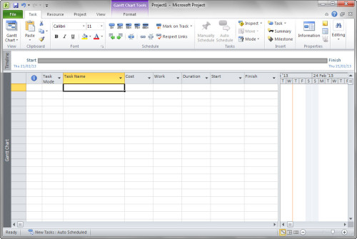 Fully configured worksheet, ready to start entering data