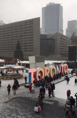 Nathan Phillips Square, Toronto, December 2016